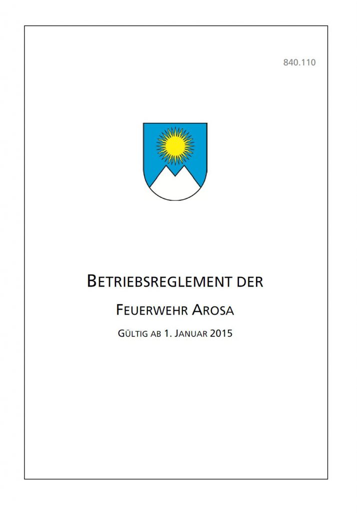 Betriebsreglement-Feuerwehr-Arosa